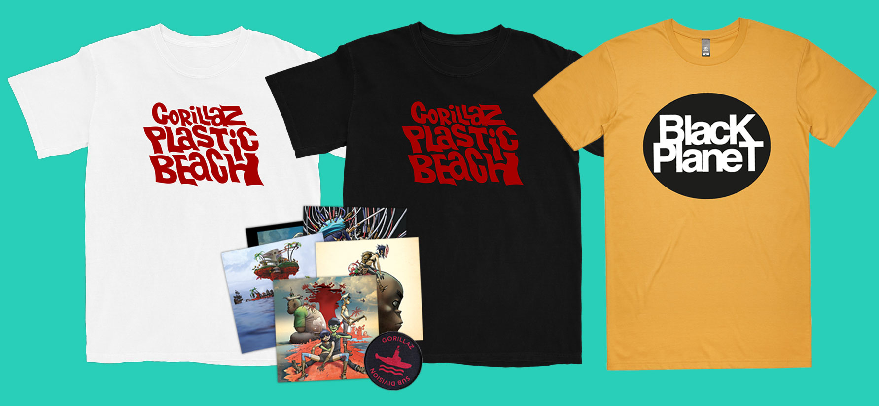 Plastic Beach merch